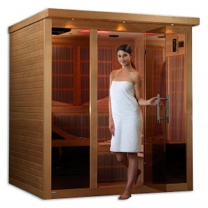 6 Person Ultra-Low-EMF Carbon Fiber Sauna w/ TV