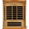 3 Person Hemlock Infrared Sauna, Front Wall Removed