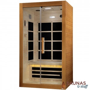 2 Person Infrared Sauna with Ultra-Low-EMF Carbon Fiber Panel Heaters