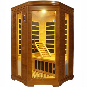 2 Person Corner Carbon Fiber Infrared Sauna