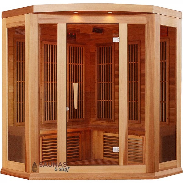 3 Person Corner Red Cedar Infrared Sauna