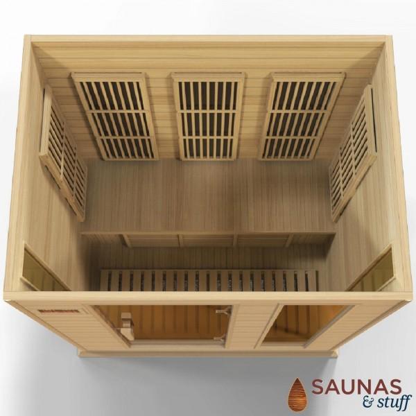 3 Person (MH) Ultra-Low-EMF Carbon Fiber Infrared Sauna