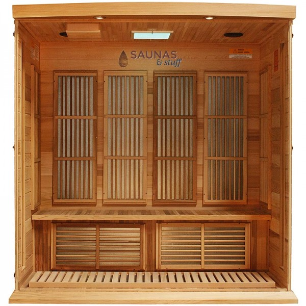 4 Person Red Cedar Infrared Sauna - Interior