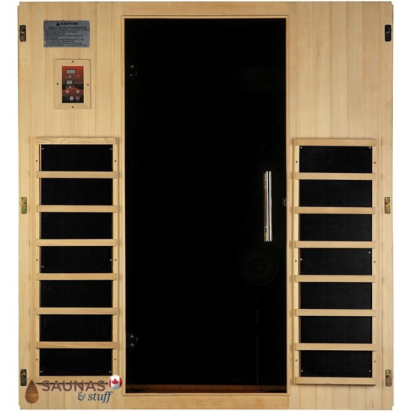 3 Person Hemlock Infrared Sauna, Inside Door Wall