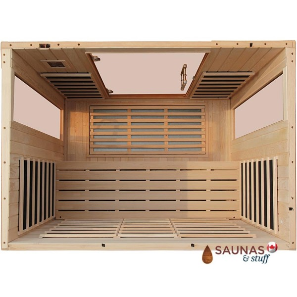 3 Person Hemlock Infrared Sauna, Overhead View