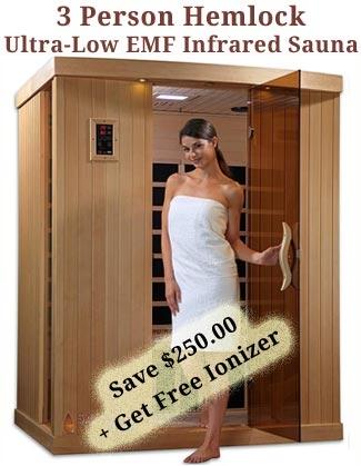 3 person Ultra Low EMF Infrared Sauna