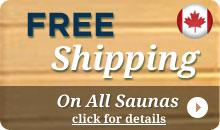 Saunas - Free Shipping